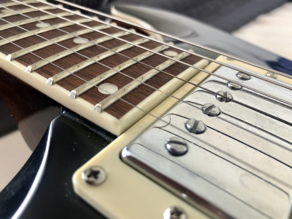 D'addario Fret Polish Kit - Before with Strings on 2